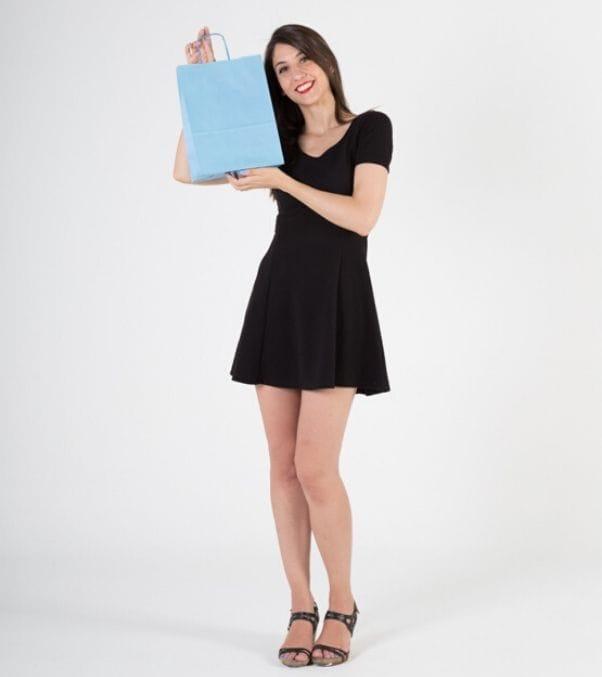 Comprar bolsas de papel asa rizada
