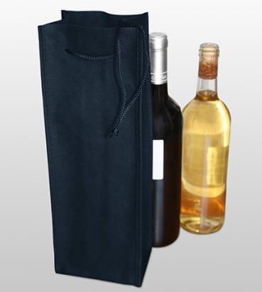 Bolsa azul para una botellas