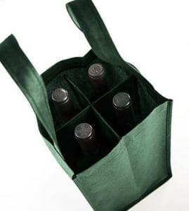 Bolsa para portar 4 botellas