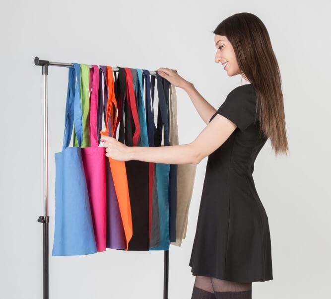 Comprar bolsa de algodón de color