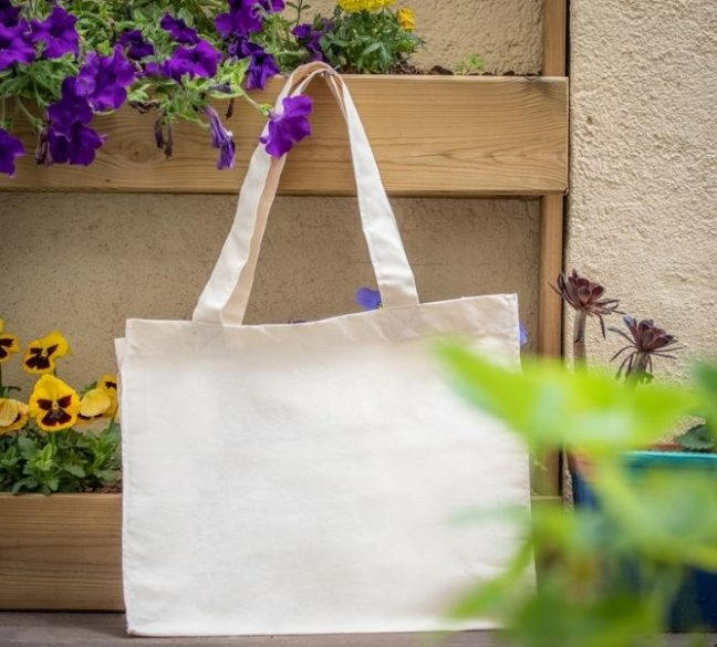 Bolsas de algodón natural