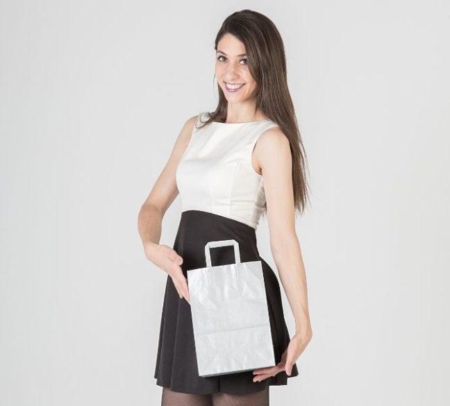 Bolsas de papel de color plata