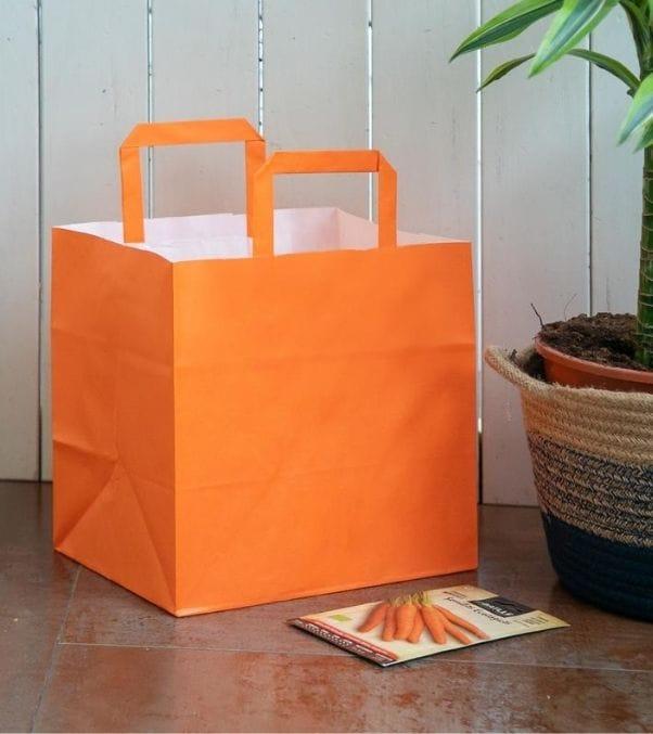 Bolsas de papel de asa plana