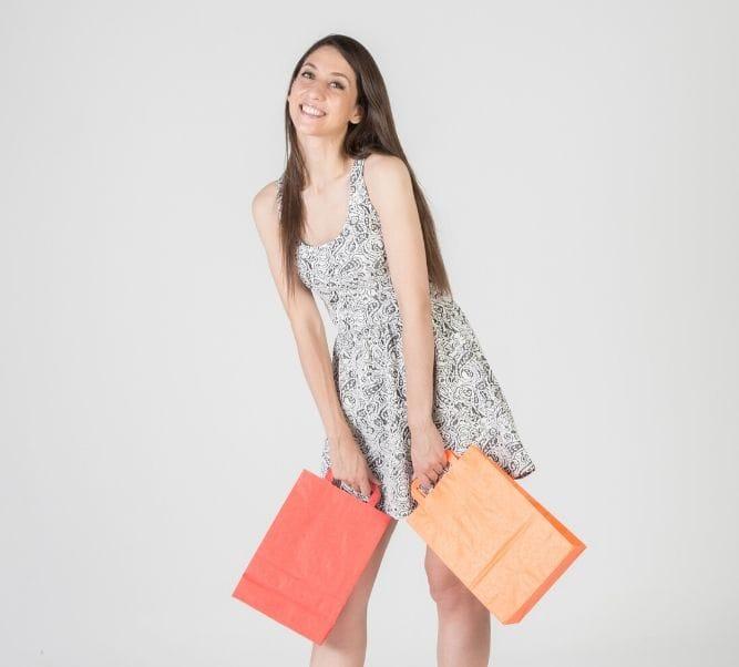 Venta de bolsas de papel de color