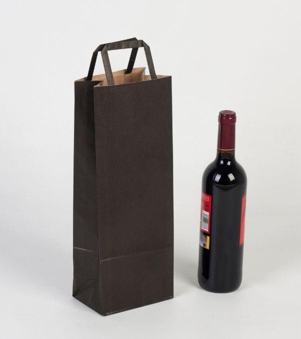 Bolsas de papel para llevar comida de vino