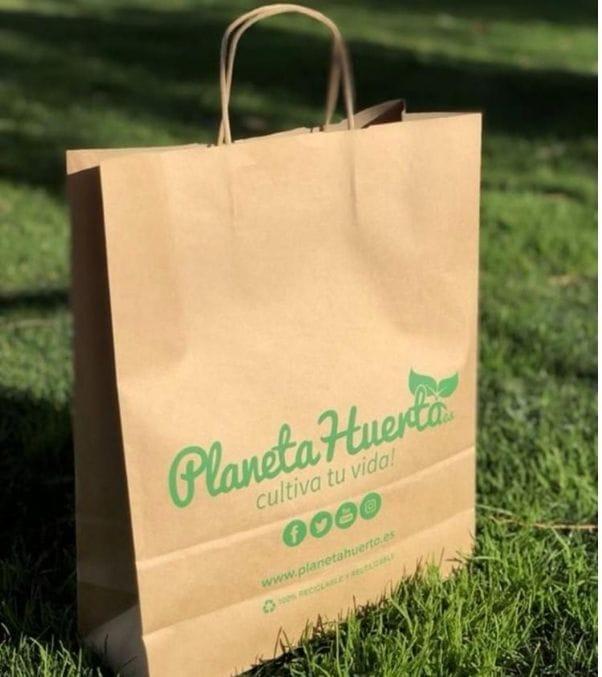 Bolsas con logo de papel