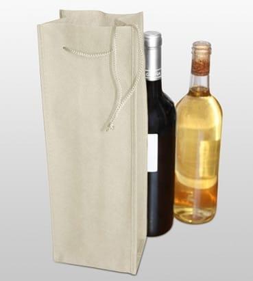 Bolsa de tejido para una botella