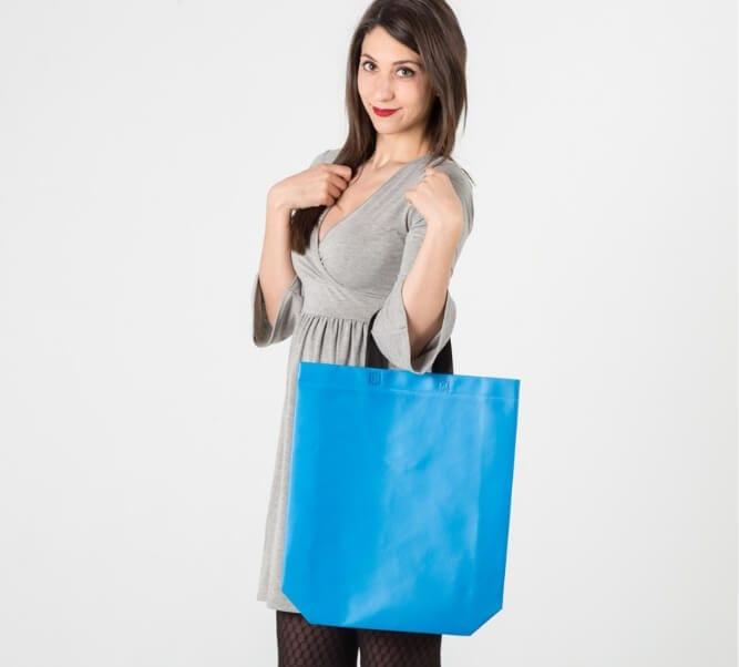 Comprar bolsa de tela con acabado palstificado