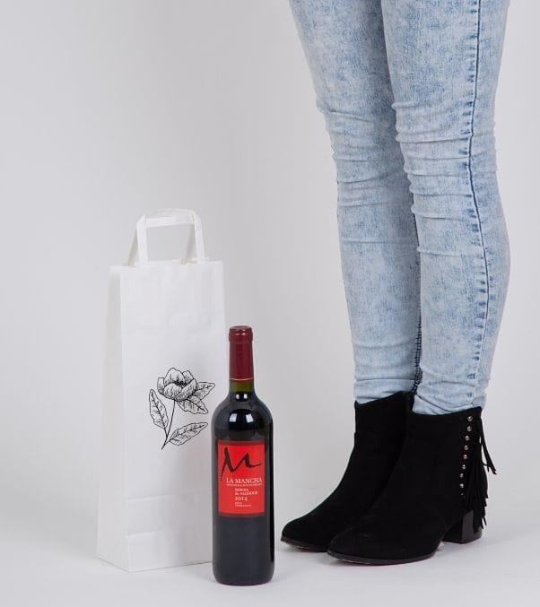 Bolsas de papel para botellas de vino baratas