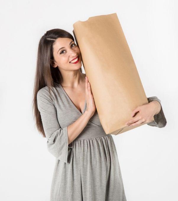 Bolsas de papel sin asas para alimentación