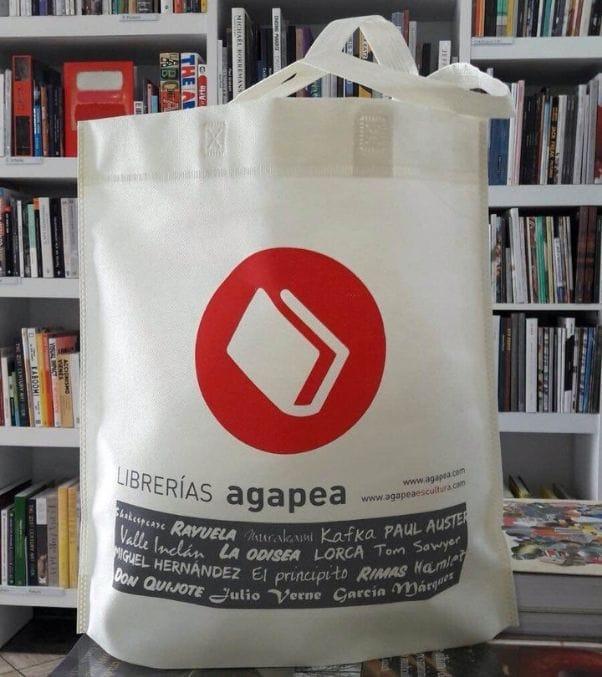 Bolsas baratas para tiendas impresas de tela