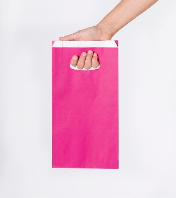 Comprar bolsas de papel de colores troqueladas