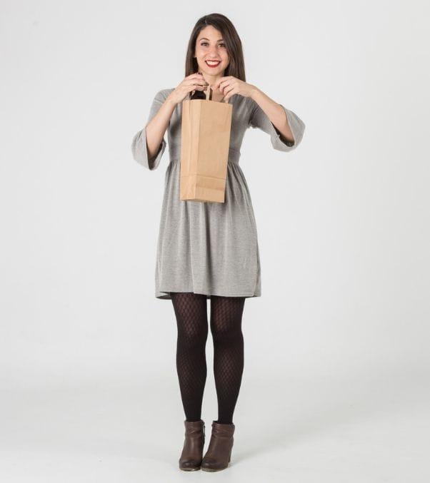 Bolsas papel kraft asa plana