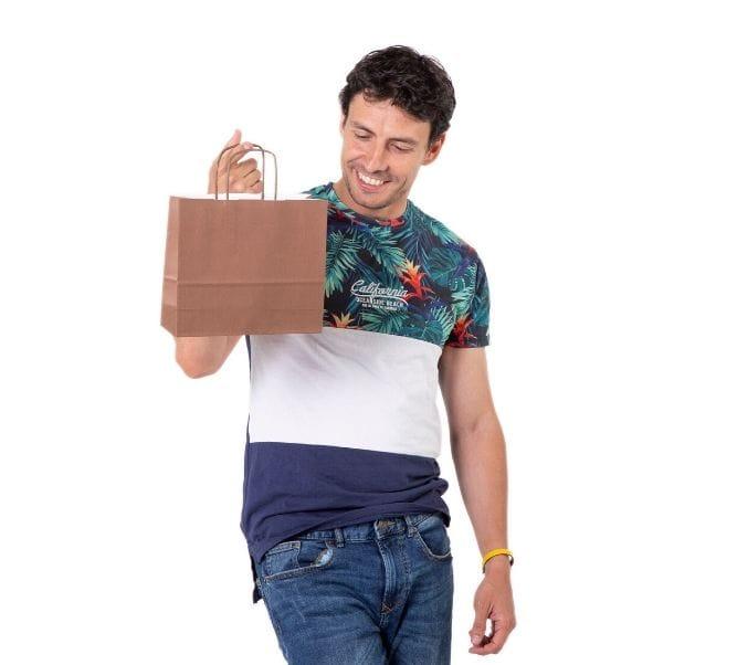 Comprar bolsas de papel baratas para tiendas