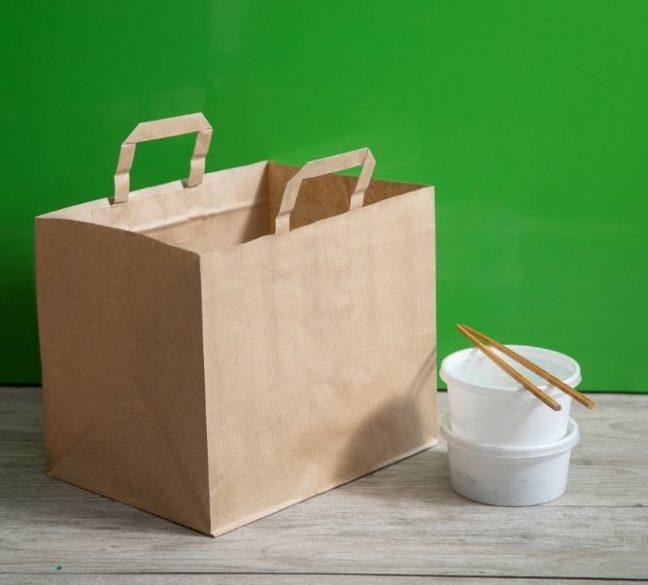 Comprar bolsas take away baratas de color kraft