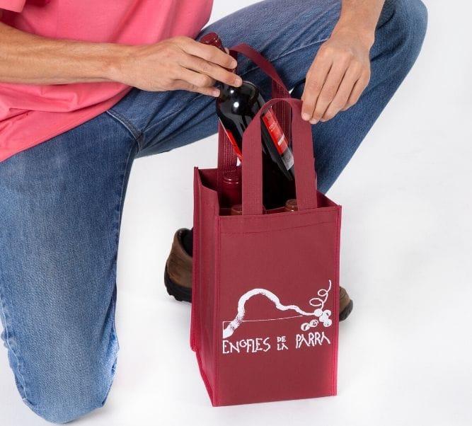 Bolsas para botellas de vino personalizadas