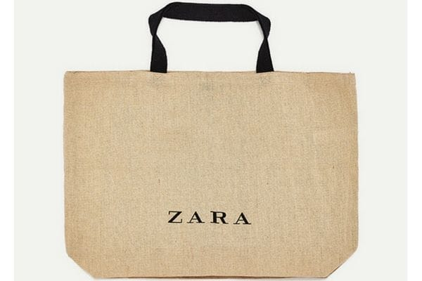 Bolsos que son bolsas de Zara