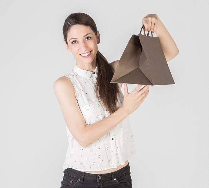 Bolsas de papel color marrón