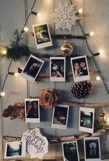 Decoración con fotos polaroid