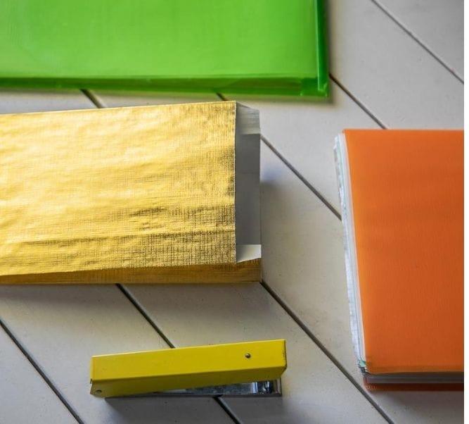 Sobres de papel metalizados