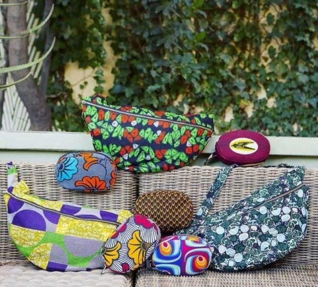 Emprendedora moda sostenible bolsos