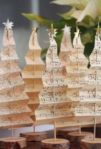 DIY mini árboles navideños