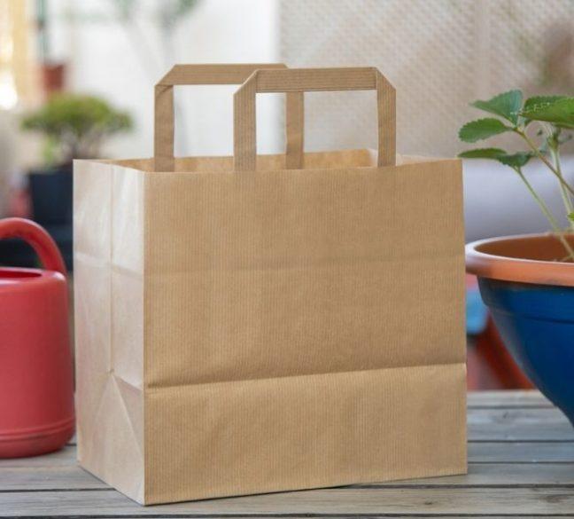 Papel verjurado de las bolsas de papel