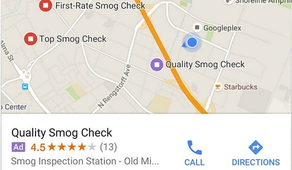 Publicidad de tiendas en Google Maps