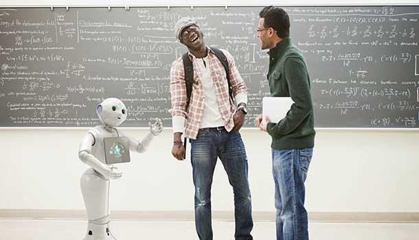 Robot-simpático-que-interactúa-con-humanos