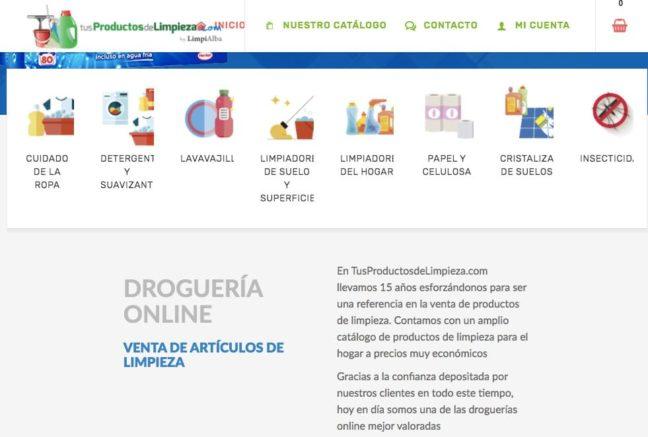Venta de productos de limpieza por catálogo