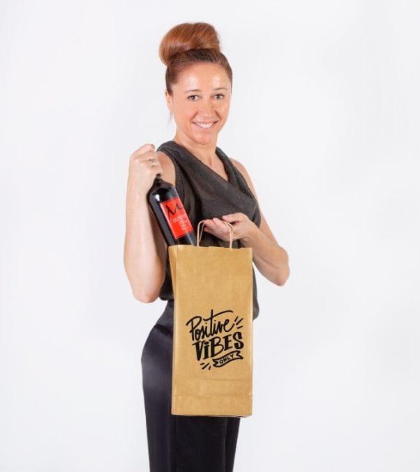 bolsas de papel para llevar comida impresas con logo