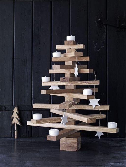 Árbol Navidad con madera