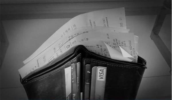 billetera con tickets