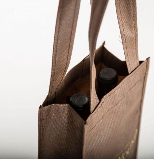 bolsa para dos botellas