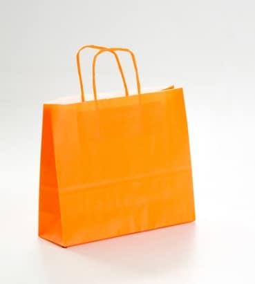 bolsa apaisada naranja