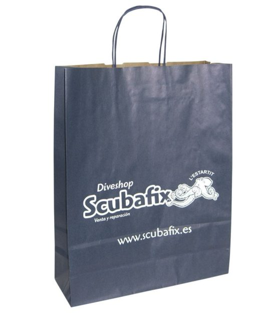 bolsas azul marino serigrafiadas