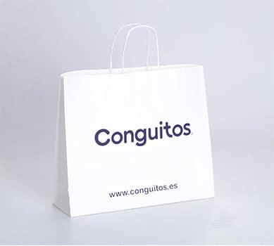 bolsa blanca personalizada de papel ecológico