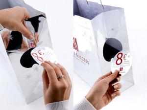 bolsa de papel con cupon descuento