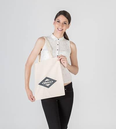 bolsa de algodón con logo