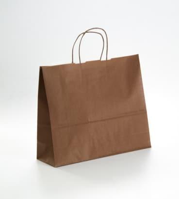 bolsa de papel apaisada color marron