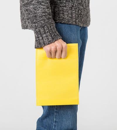 bolsa de tela con asa troquelada
