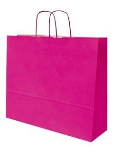 bolsa de papel color fucsia