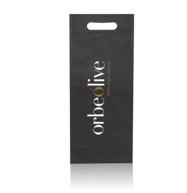 Bolsa negra para llevar botellas