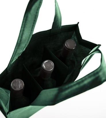 Bolsas para tres botellas