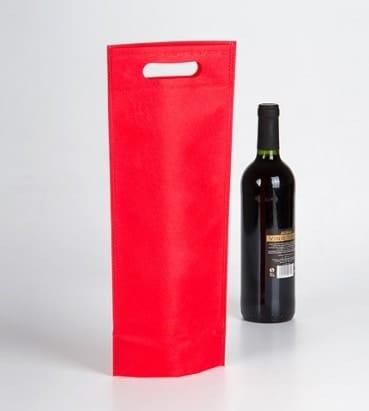 Bolsa para una botella en colro rojo