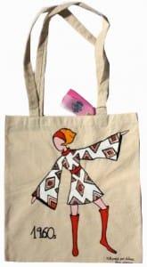 bolsa de algodón pintada