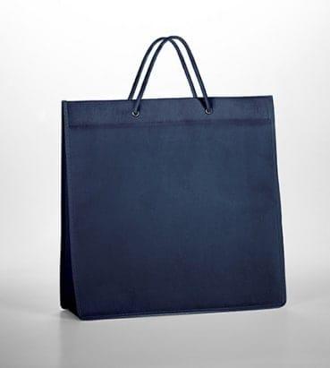 bolsas azules con asa de algodón