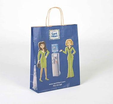 bolsas con impresión en fuelle y en ambas caras de la bolsa