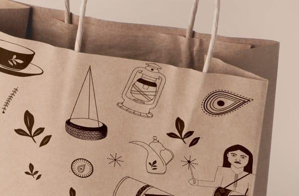 bolsas con ilustraciones