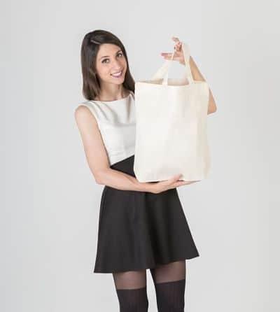 comprar bolsas de algodon asas cortas